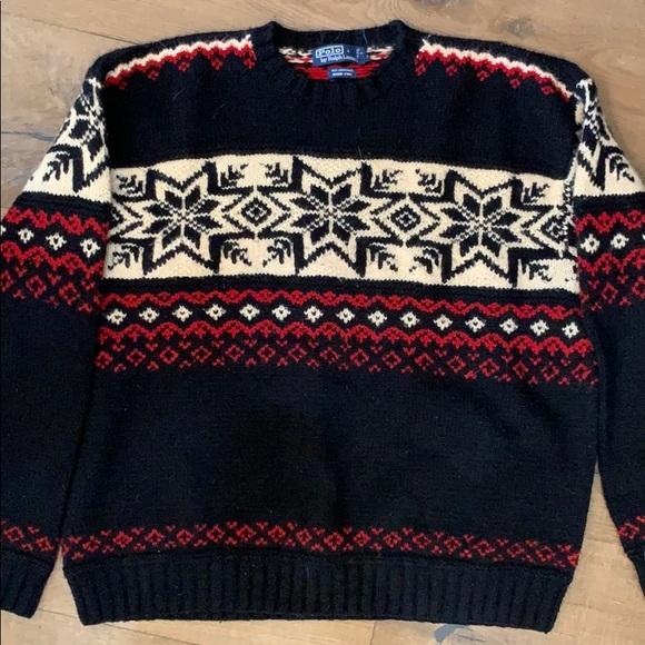 Classic hand knit Ralph Lauren sweater Men's XL